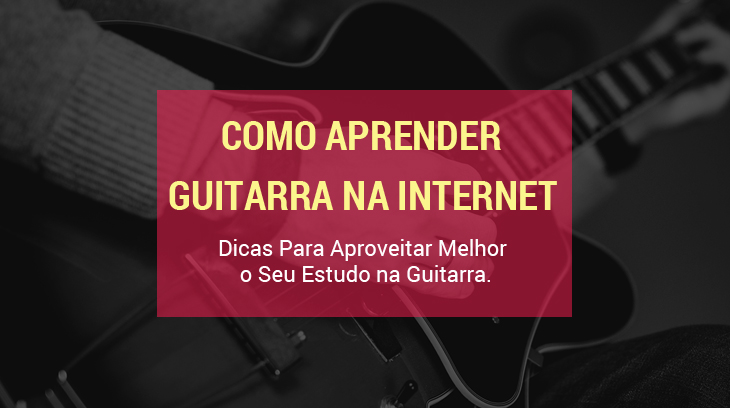 aprender guitarra na internet