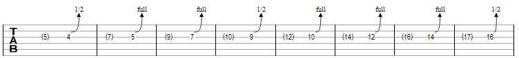 tecnicas de guitarra exercicio bend 1