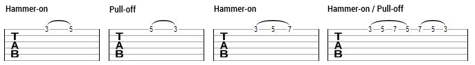 tecnicas de guitarra _hammer on pull off