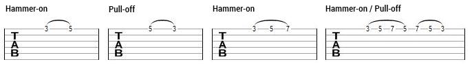 tecnicas de guitarra _hammer on pull off