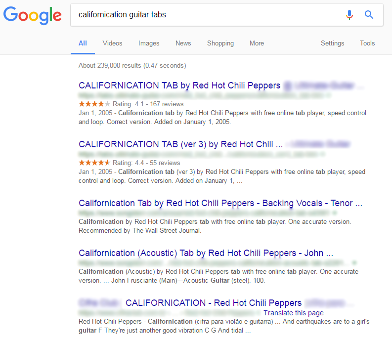 como aprender solo de guitarra californication google