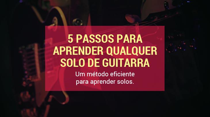 como aprender solo de guitarra guitarra Capa