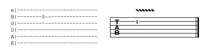 como ler tablatura vibrato